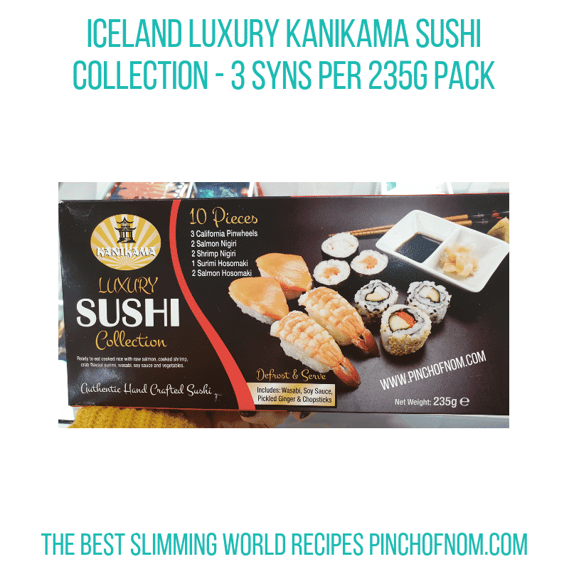 Iceland Sushi Collection - Pinch of Nom Slimming World Shopping Essentials