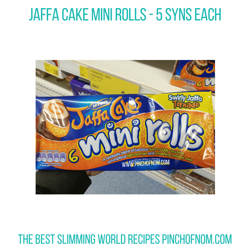 Jaffa Cake Mini Rolls - Pinch of Nom Slimming World Shopping Essentials