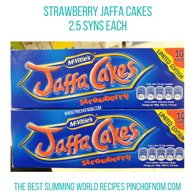 Jaffa Cakes Strawberry - Pinch of Nom Slimming World Shopping Essentials