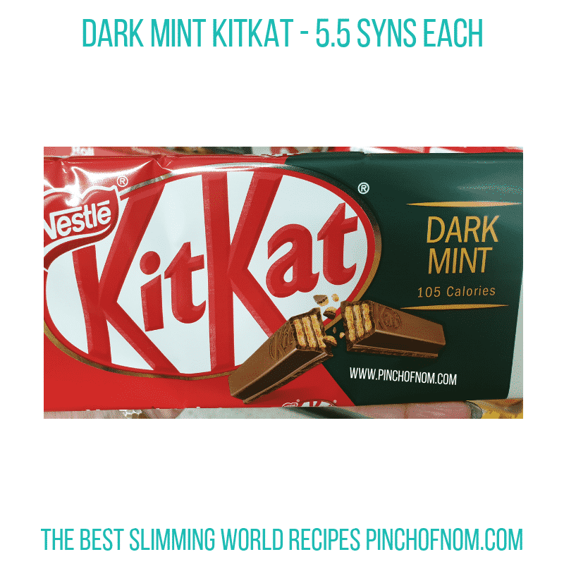 KitKat Dark Mint - Pinch of Nom Slimming World Shopping Essentials
