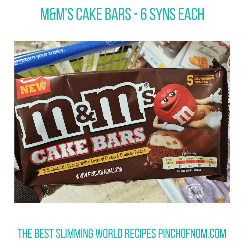 M&Ms Cake Bars - Pinch of Nom Slimming World Shopping Essentials