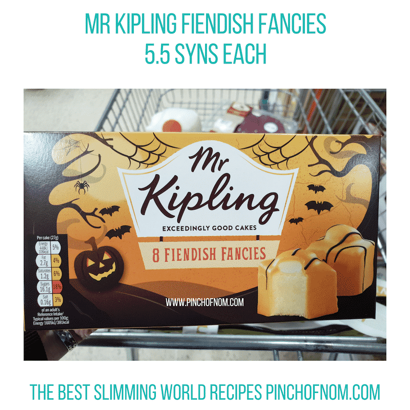 Mr Kipling Fiendish Fancies - Pinch of Nom Slimming World Shopping Essentials