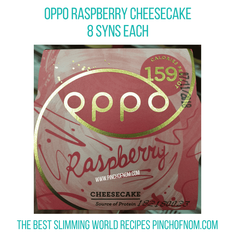Oppo Raspberry Cheesecake - Pinch of Nom Slimming World Shopping Essentials