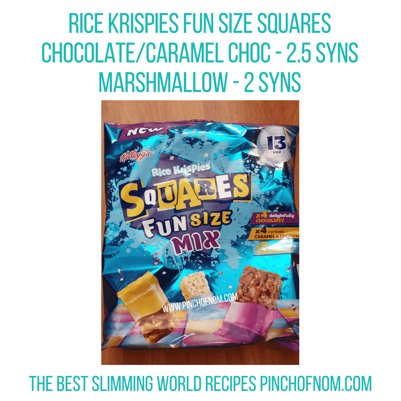 Rice Krispies mini squares - Pinch of Nom Slimming World Shopping Essentials