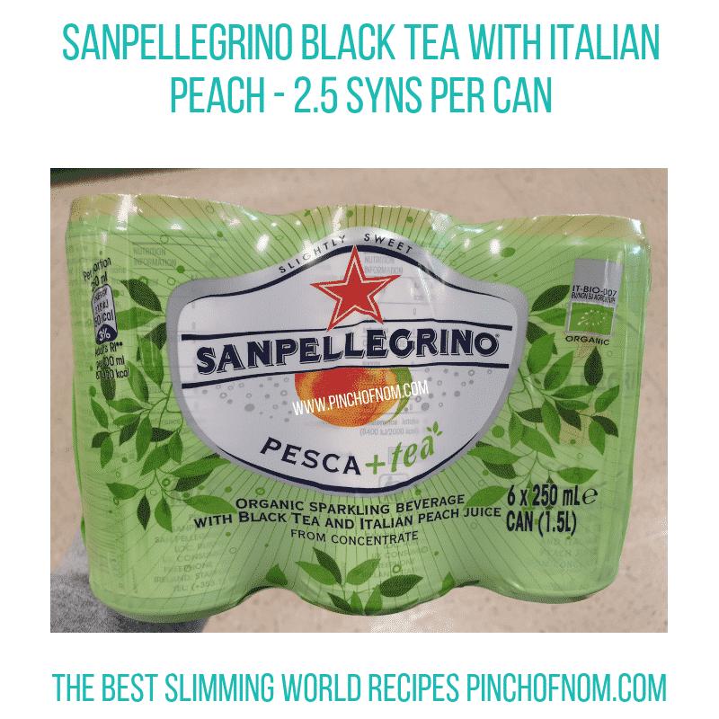 SanPellegrino Black Peach - Pinch of Nom Slimming World Shopping Essentials