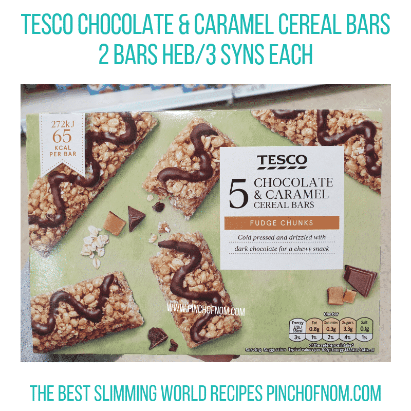 Tesco Cereal Bars - Pinch of Nom Slimming World Shopping Essentials