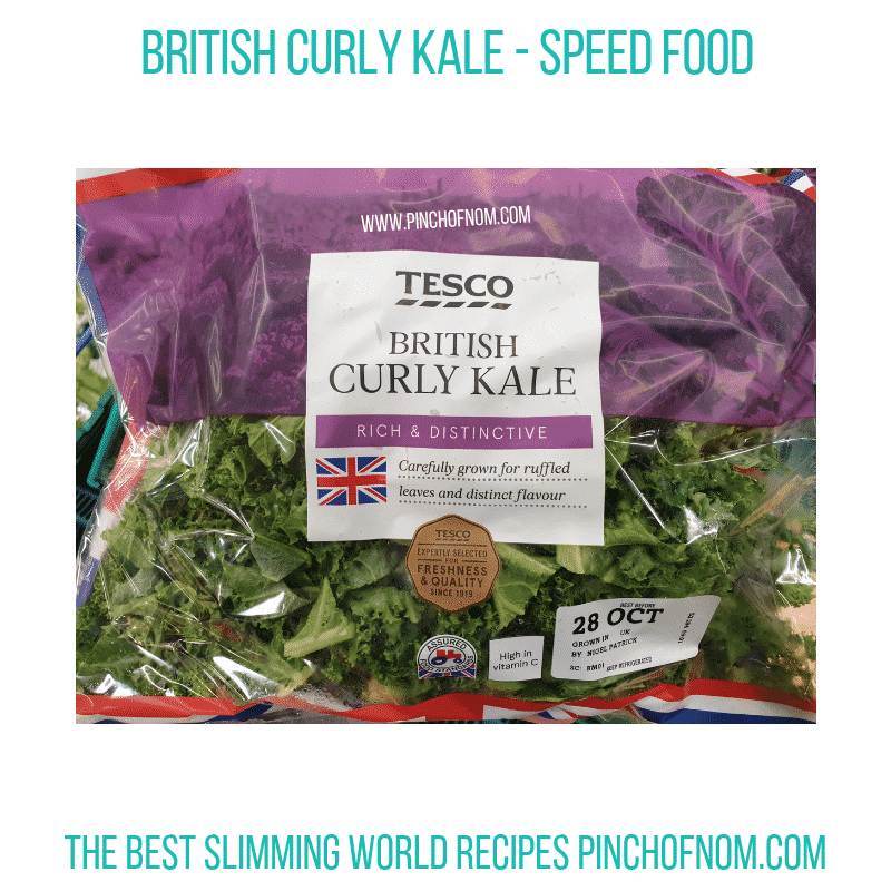 Tesco Curly Kale - Pinch of Nom Slimming World Shopping Essentials