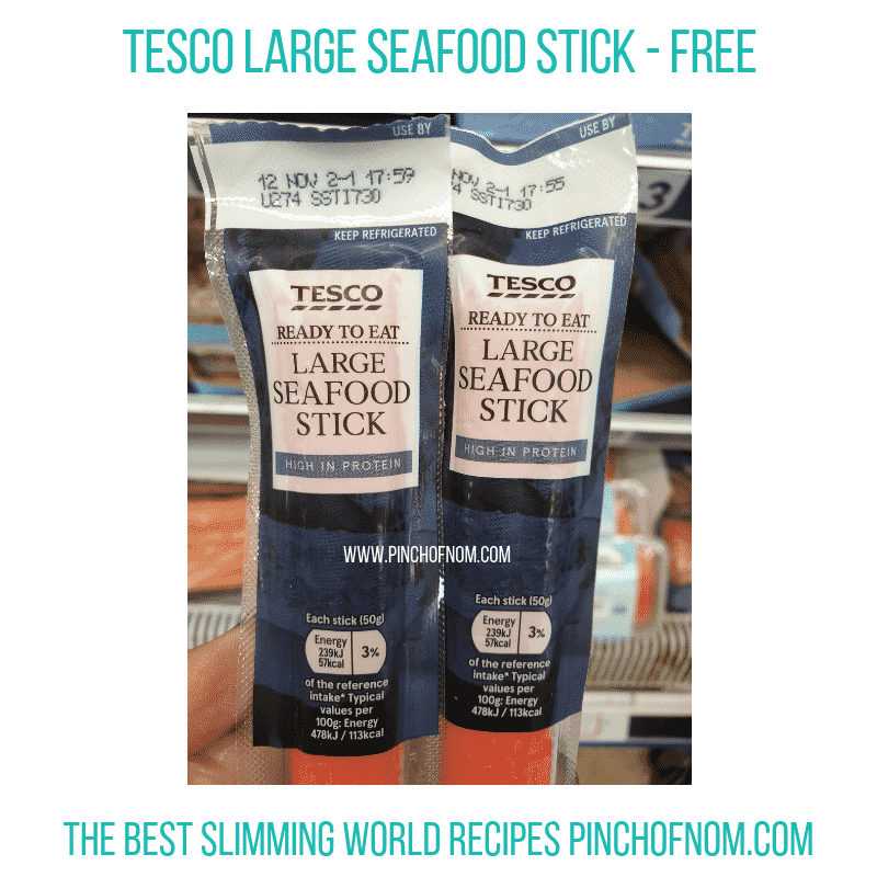 Tesco Seafood Stick - Pinch of Nom Slimming World Shopping Essentials
