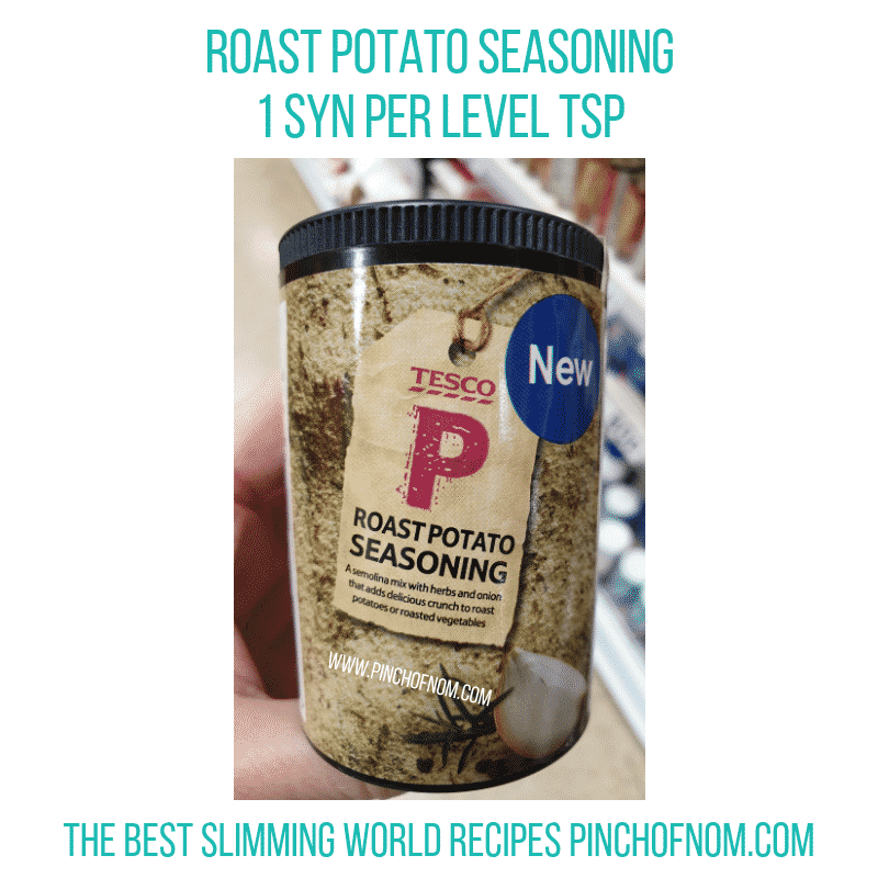 Tesco Roast Potato Seasoning - Pinch of Nom Slimming World Shopping Essentials