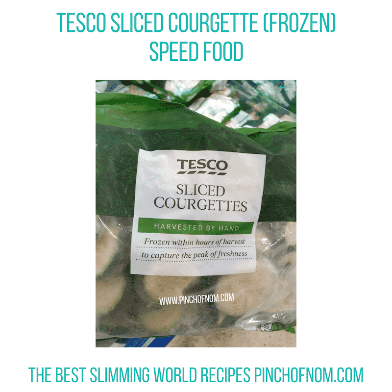 Tesco Sliced Courgettes - Pinch of Nom Slimming World Shopping Essentials