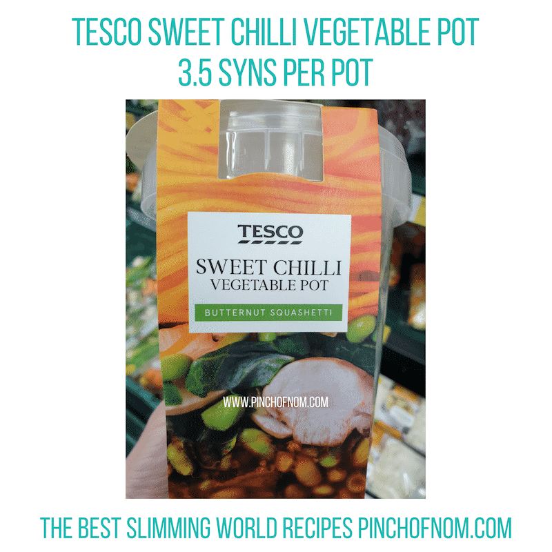 Tesco Sweet Chilli Veg Pot - Pinch of Nom Slimming World Shopping Essentials
