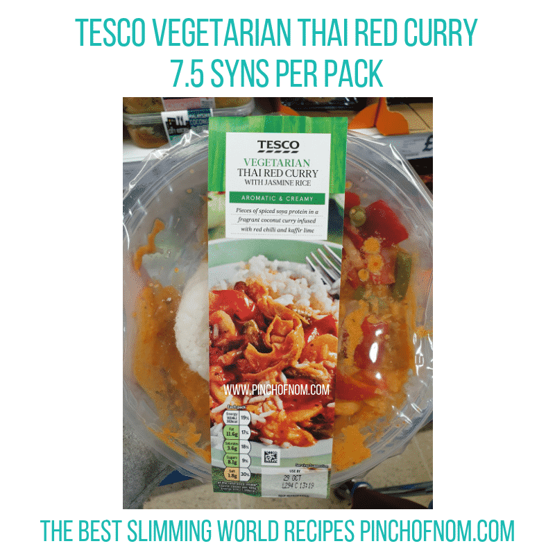 Tesco Thai veg Curry - Pinch of Nom Slimming World Shopping Essentials