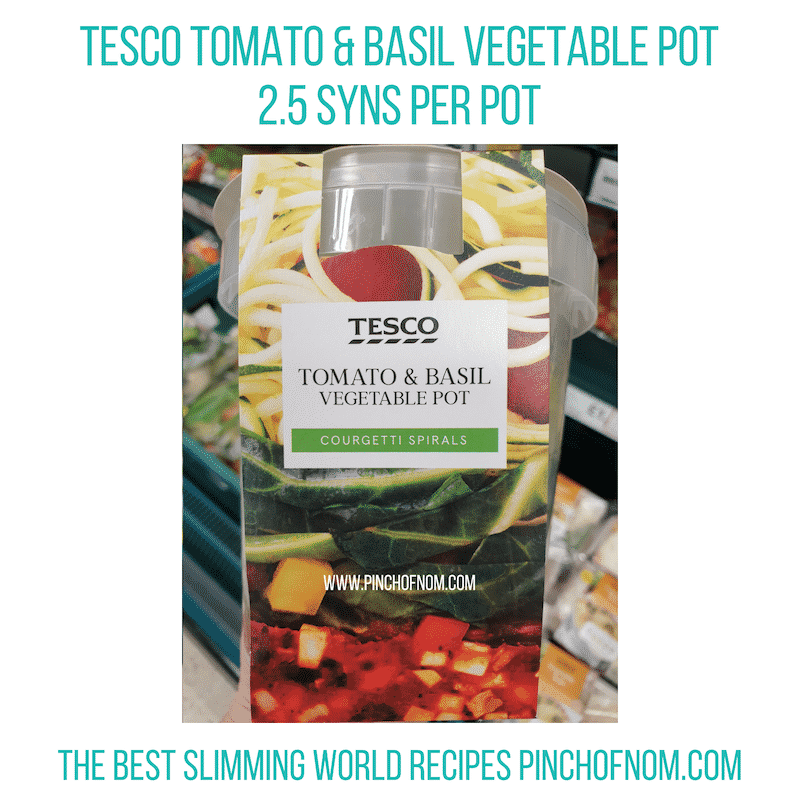 Tesco Tomato & Basil Veg Pot - Pinch of Nom Slimming World Shopping Essentials