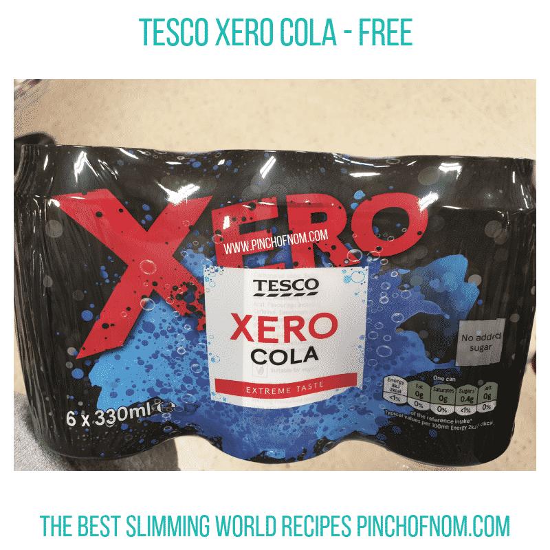 Tesco Xero Cola - Pinch of Nom Slimming World Shopping Essentials