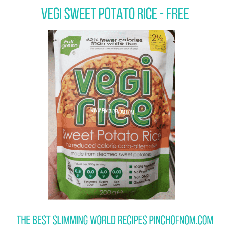 Vegi Sweet Potato Rice - Pinch of Nom Slimming World Shopping Essentials