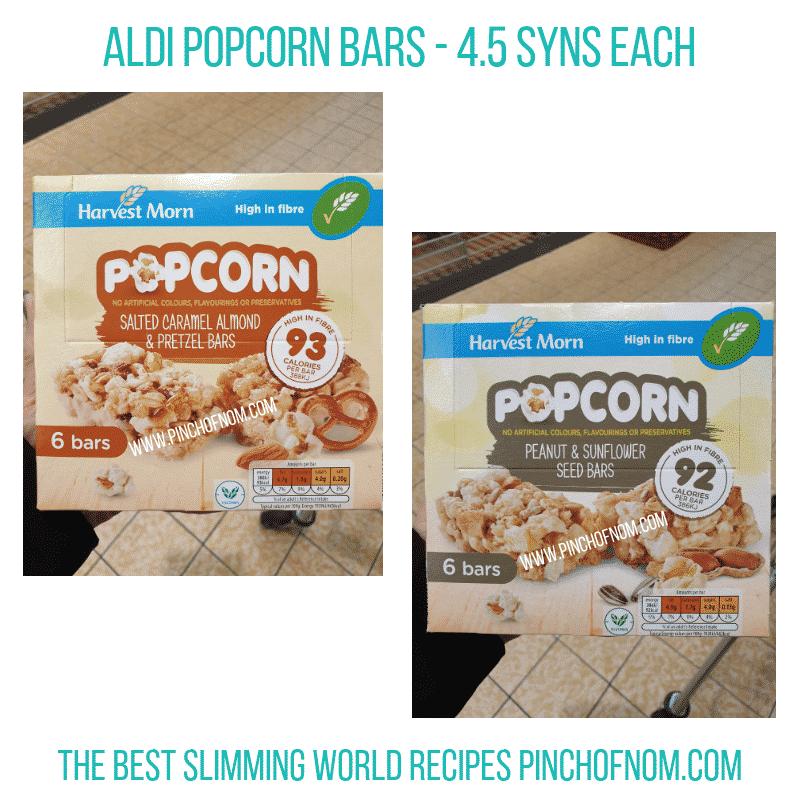 Aldi Popcorn Bars Pinch of Nom Slimming World Shopping Essentials