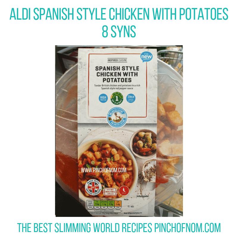 Aldi Spanish Style Chicken - Pinch of Nom Slimming World Shopping Essentials