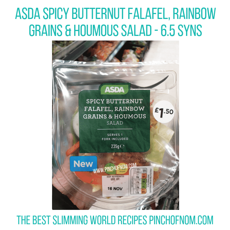 Asda Butternut Falafel - Pinch of Nom Slimming World Shopping Essentials