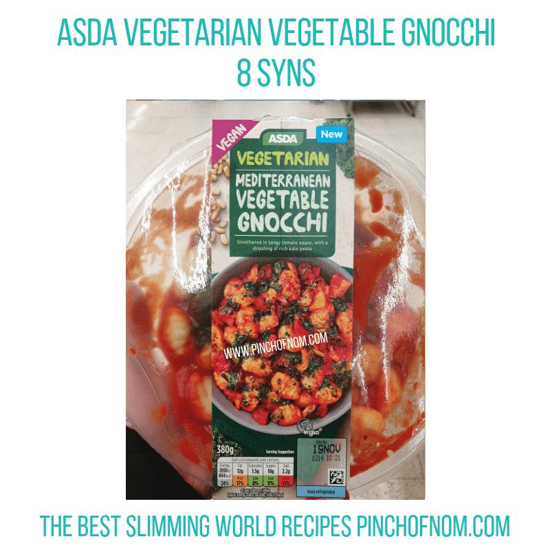 Asda veg Gnocchi - Pinch of Nom Slimming World Shopping Essentials
