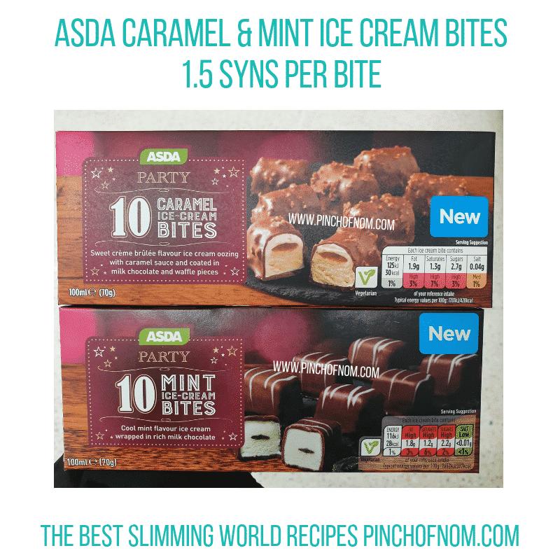 Asda Ice Cream Bites Pinch of Nom Slimming World Shopping Essentials