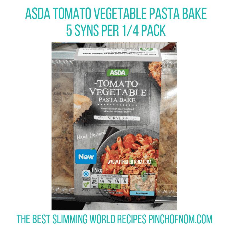 Asda Pasta Bake - Pinch of Nom Slimming World Shopping Essentials