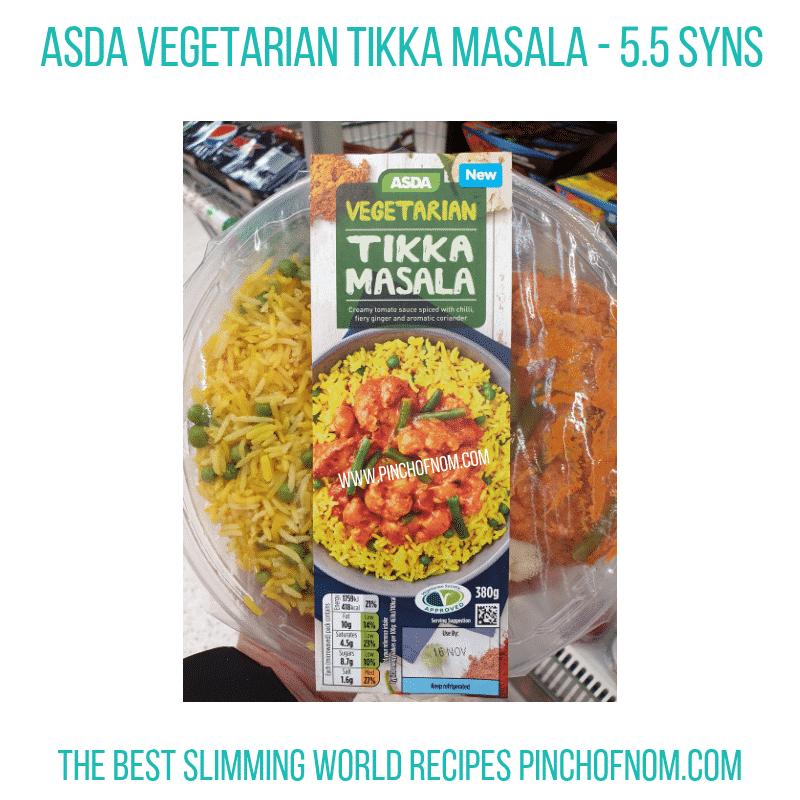 Asda Tikka Masala - Pinch of Nom Slimming World Shopping Essentials