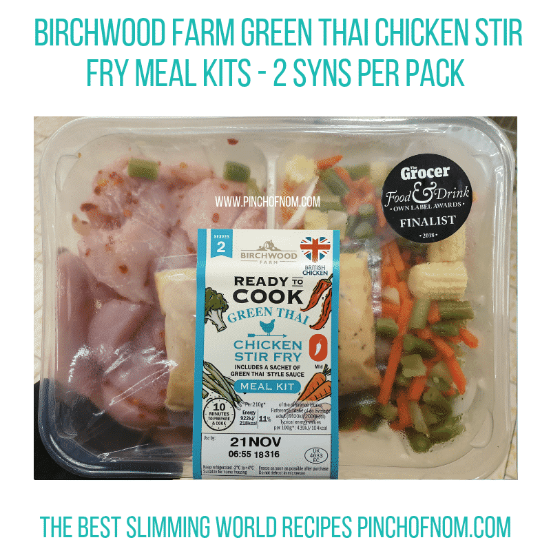 Lidl Birchwood Green Thai - Pinch of Nom Slimming World Shopping Essentials