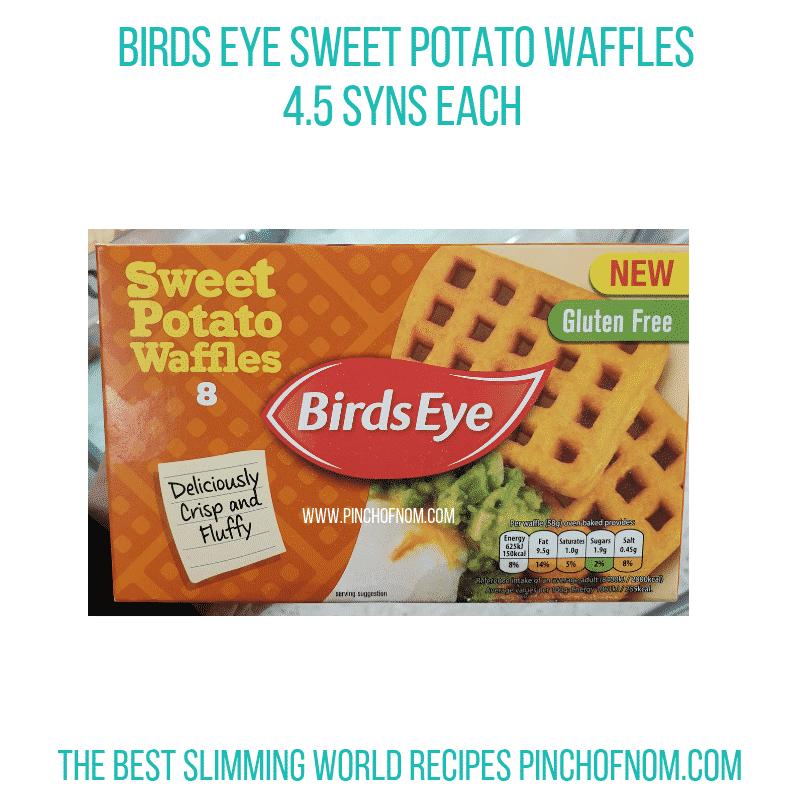 BirdsEye Sweet Potato Waffles - Pinch of Nom Slimming World Shopping Essentials