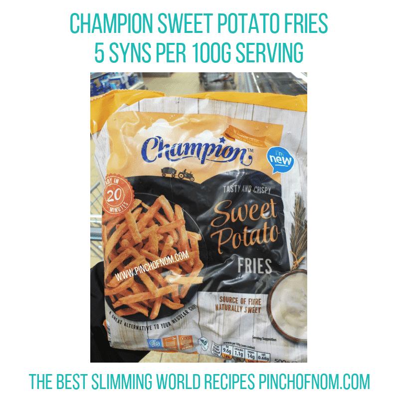 Champion Sweet Potato Fries - Pinch of Nom Slimming World Shopping Essentials