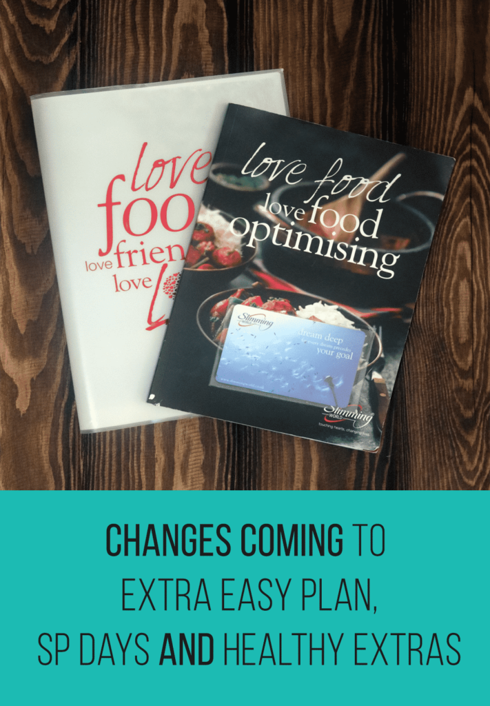Changes coming to Extra Easy Plan, SP Days and Healthy Extras | Slimming World