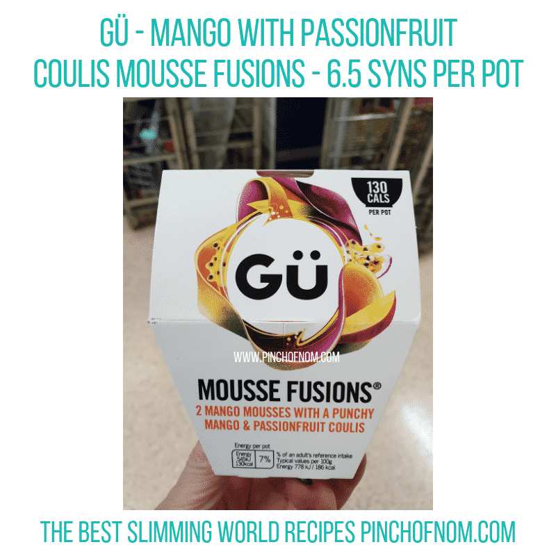 Gu Mango Coulis - Pinch of Nom Slimming World Shopping Essentials
