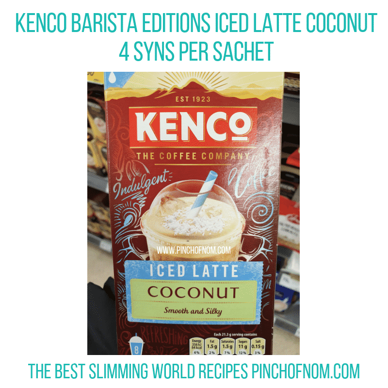 Kenco Iced Latte Coconut - Pinch of Nom Slimming World Shopping Essentials