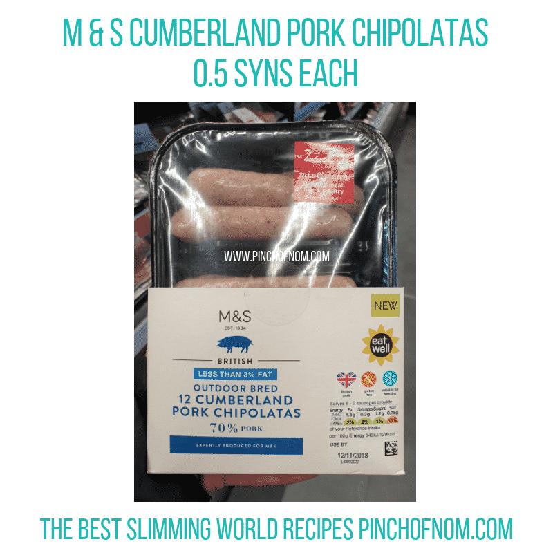 MS Chipolatas - Pinch of Nom Slimming World Shopping Essentials