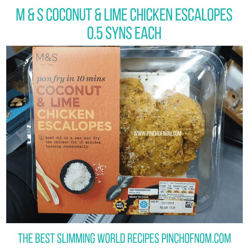 MS chicken Escalopes - Pinch of Nom Slimming World Shopping Essentials