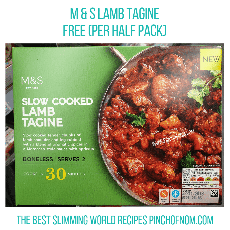 MS Lamb Tagine - Pinch of Nom Slimming World Shopping Essentials