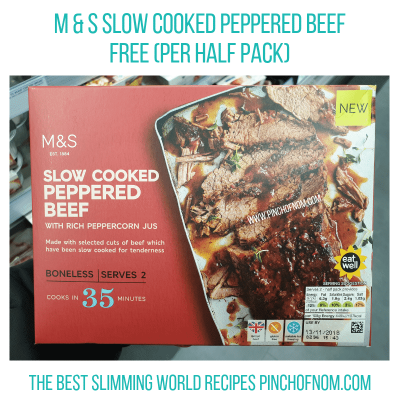 MS Peppered Beef - Pinch of Nom Slimming World Shopping Essentials