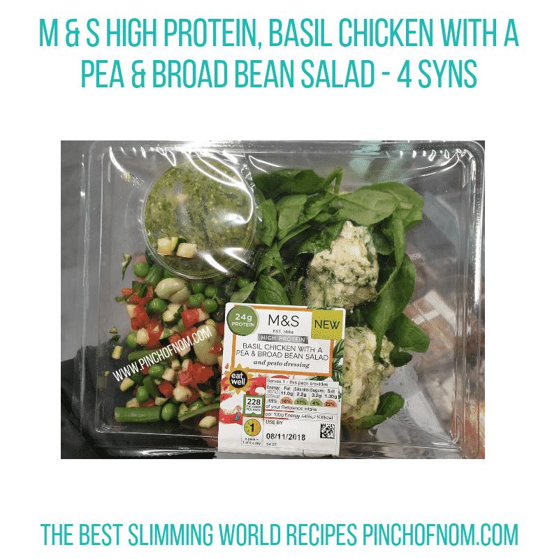 MS Basil Chicken Salad - Pinch of Nom Slimming World Shopping Essentials
