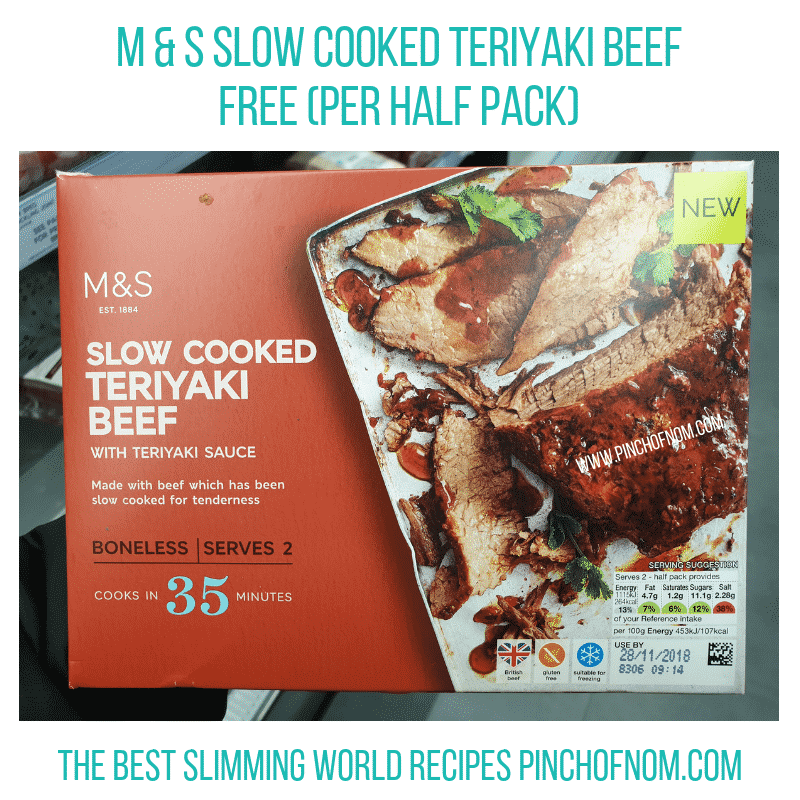 MS Teriyaki Beef - Pinch of Nom Slimming World Shopping Essentials