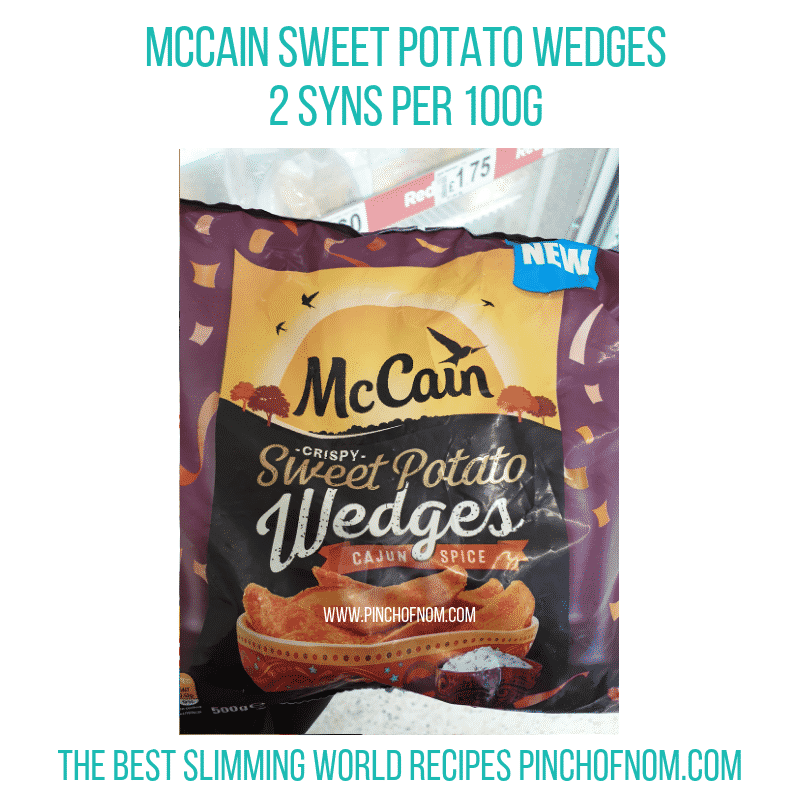 McCain Sweet Potato Wedges - Pinch of Nom Slimming World Shopping Essentials