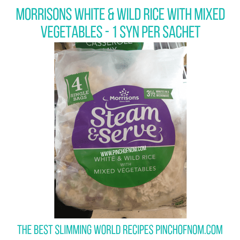 Morrisons Mixed Veg Rice - Pinch of Nom Slimming World Shopping Essentials