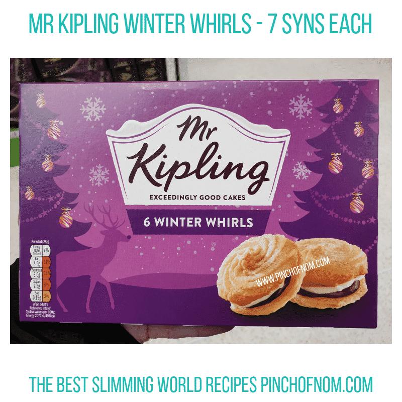 Mr Kipling WInter Whirls - Pinch of Nom Slimming World Shopping Essentials