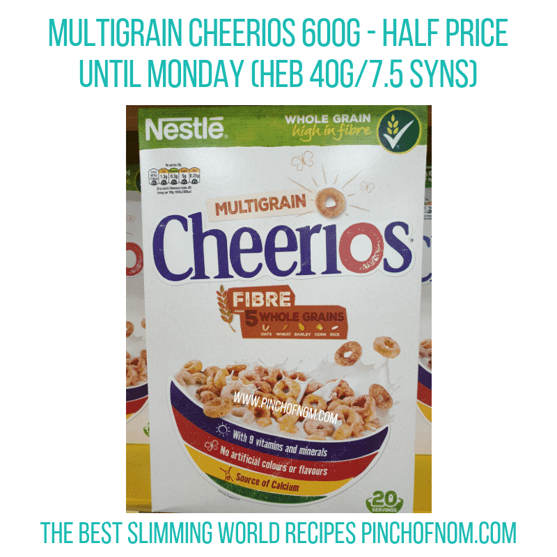 Multigrain Cheerios - Pinch of Nom Slimming World Shopping Essentials