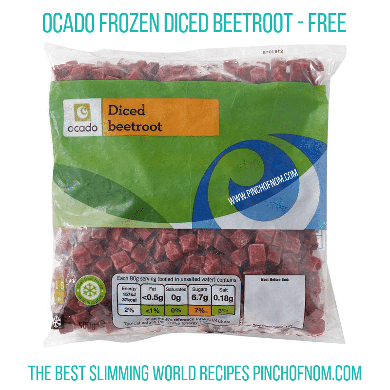 Ocado Diced Beetroot - Pinch of Nom Slimming World Shopping Essentials