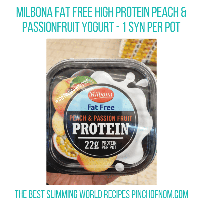 High protein peach Milbona - Pinch of Nom Slimming World Shopping Essentials