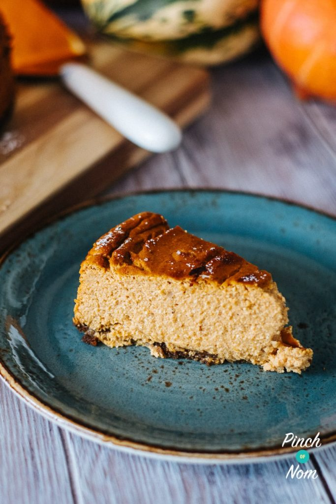 Baked Pumpkin Cheesecake | Slimming World & Weight Watchers Friendly