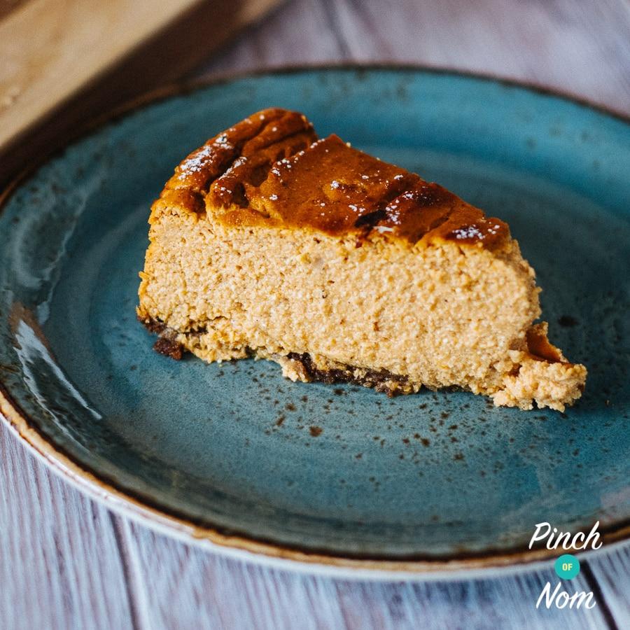 Baked Pumpkin Cheesecake   Slimming World & Weight Watchers Friendly