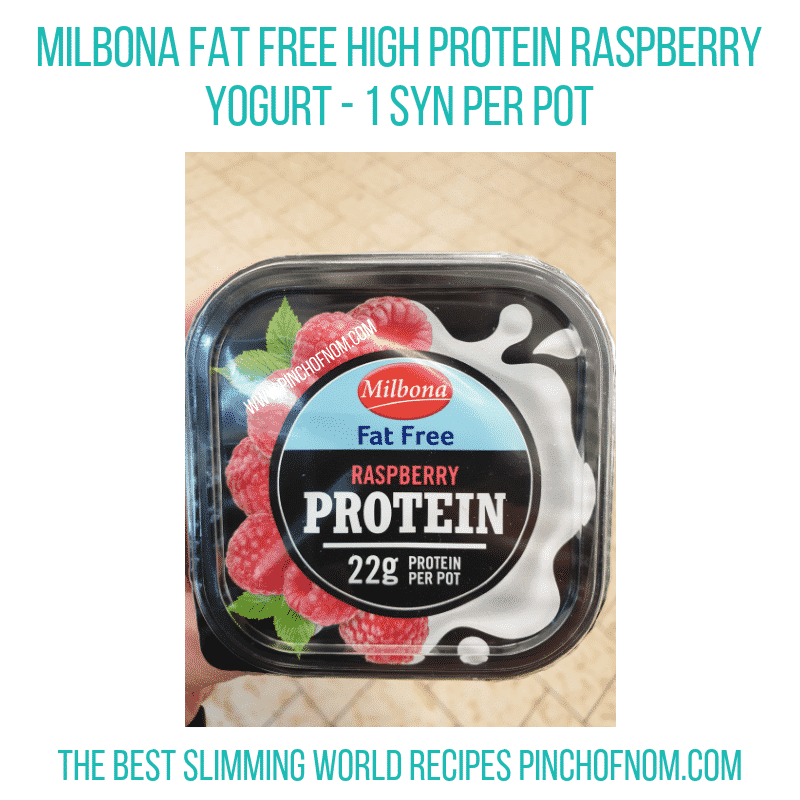 High protein Raspberry Milbona - Pinch of Nom Slimming World Shopping Essentials