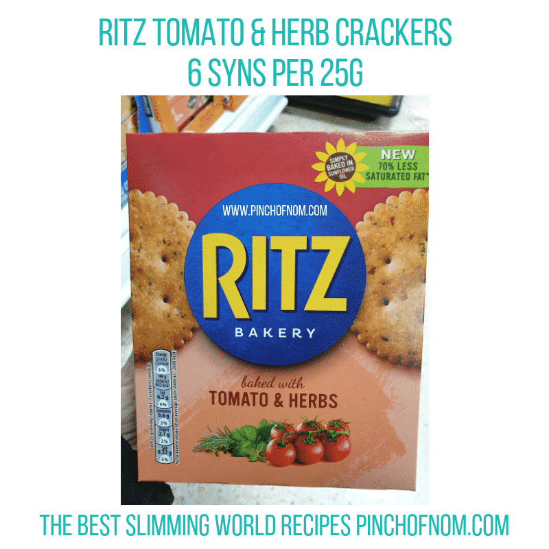Ritz Tomato Herbs - Pinch of Nom Slimming World Shopping Essentials