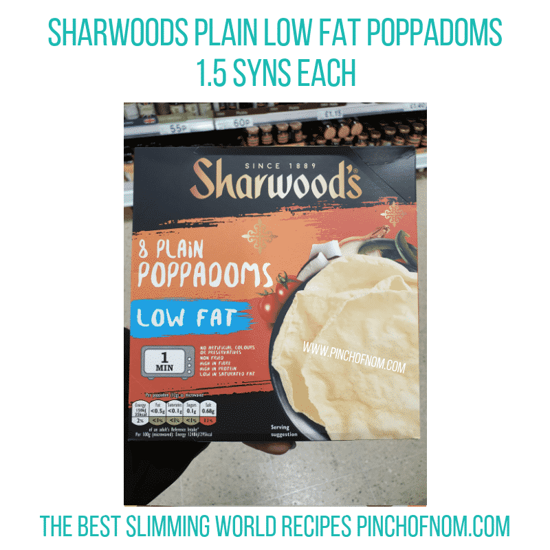 Sharwoods Poppadoms - Pinch of Nom Slimming World Shopping Essentials