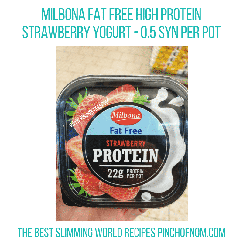 High protein strawberry Milbona - Pinch of Nom Slimming World Shopping Essentials